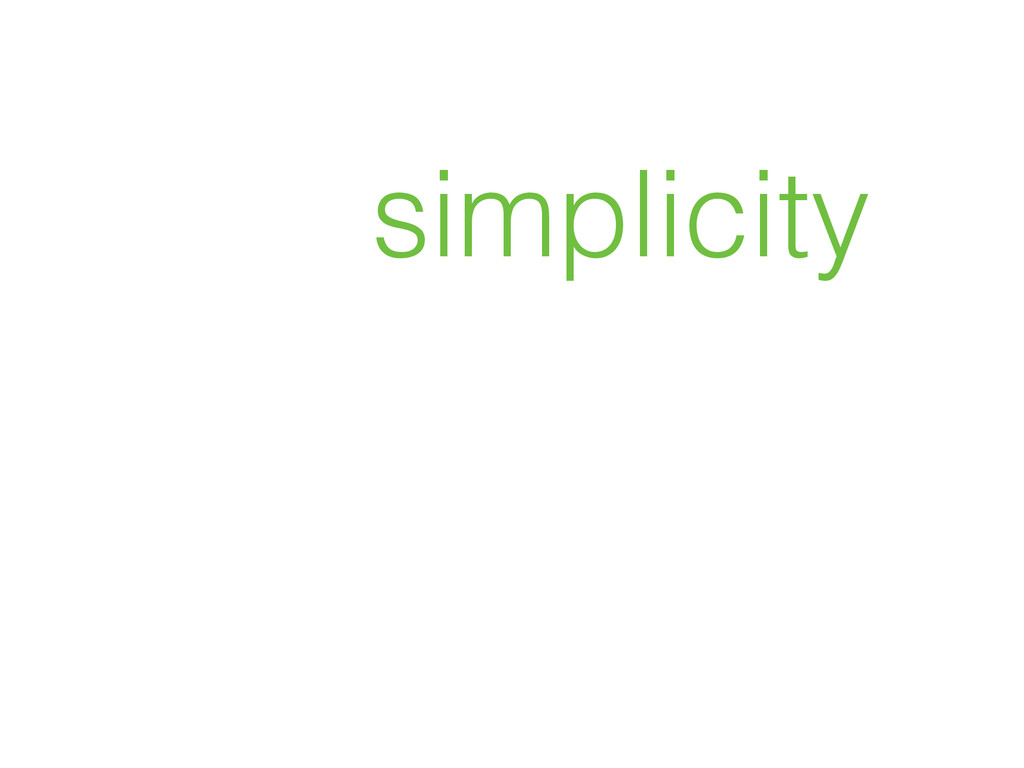 how simplicity will save GIS
