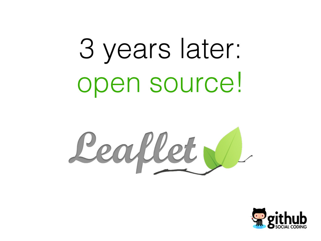3 years later: open source!