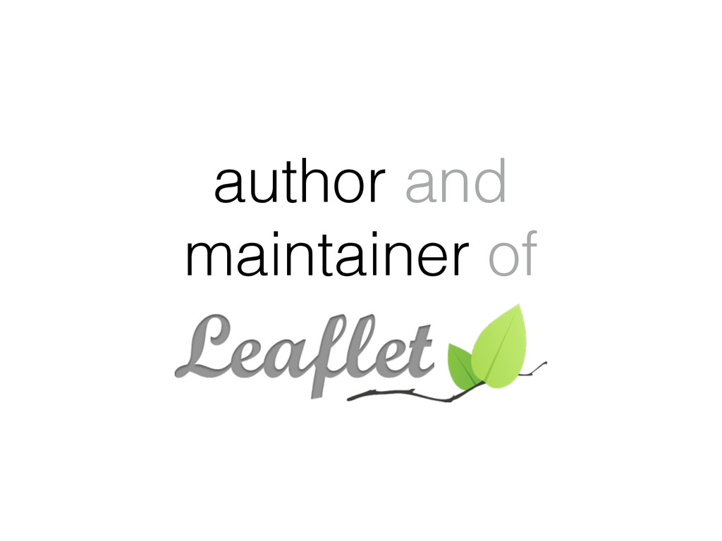 author and maintainer of