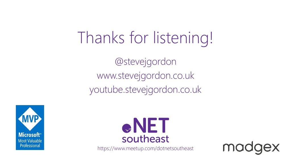 @stevejgordon www.stevejgordon.co.uk Thanks for...