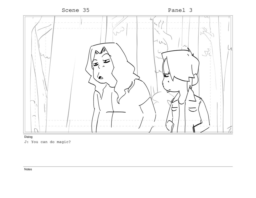 Scene 35 Panel 3 Dialog J: You can do magic? No...