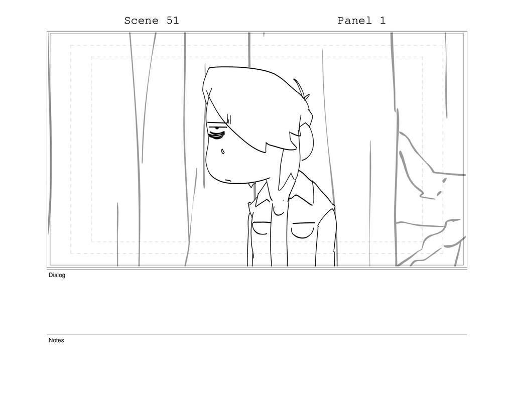 Scene 51 Panel 1 Dialog Notes