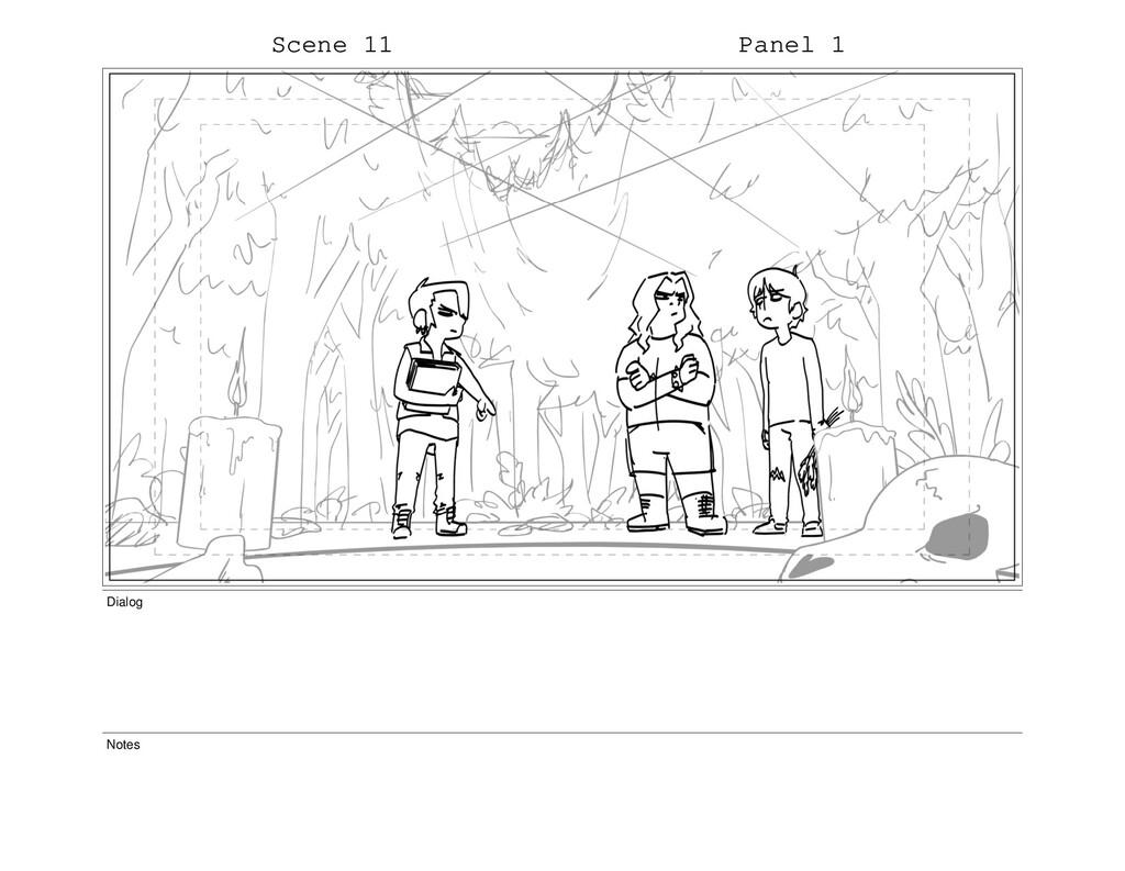 Scene 11 Panel 1 Dialog Notes