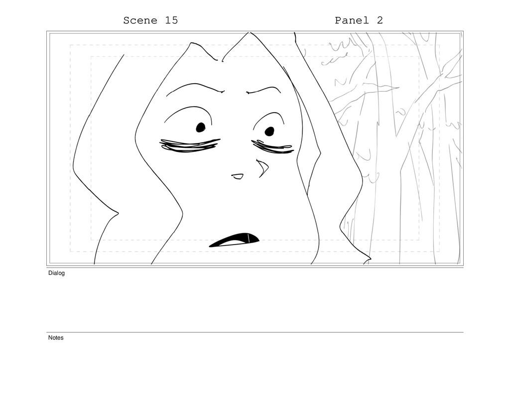 Scene 15 Panel 2 Dialog Notes