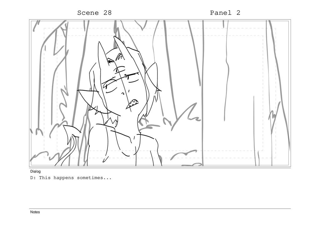 Scene 28 Panel 2 Dialog D: This happens sometim...