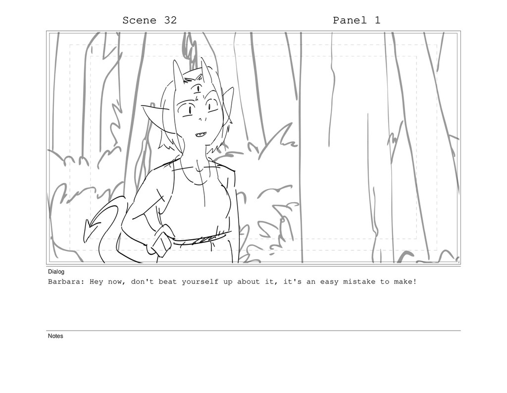 Scene 32 Panel 1 Dialog Barbara: Hey now, don't...