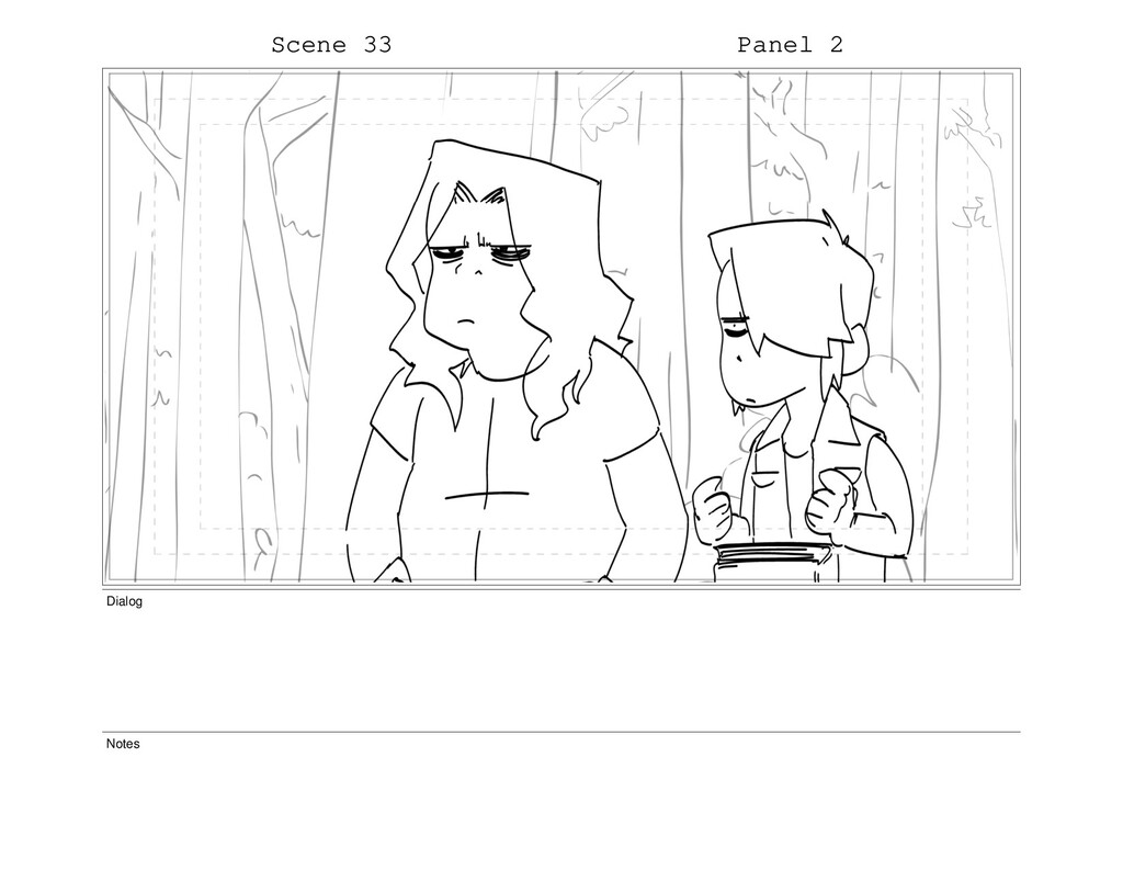 Scene 33 Panel 2 Dialog Notes