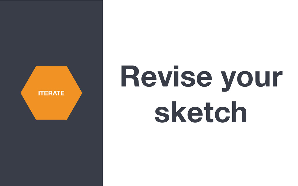 Revise your sketch ITERATE