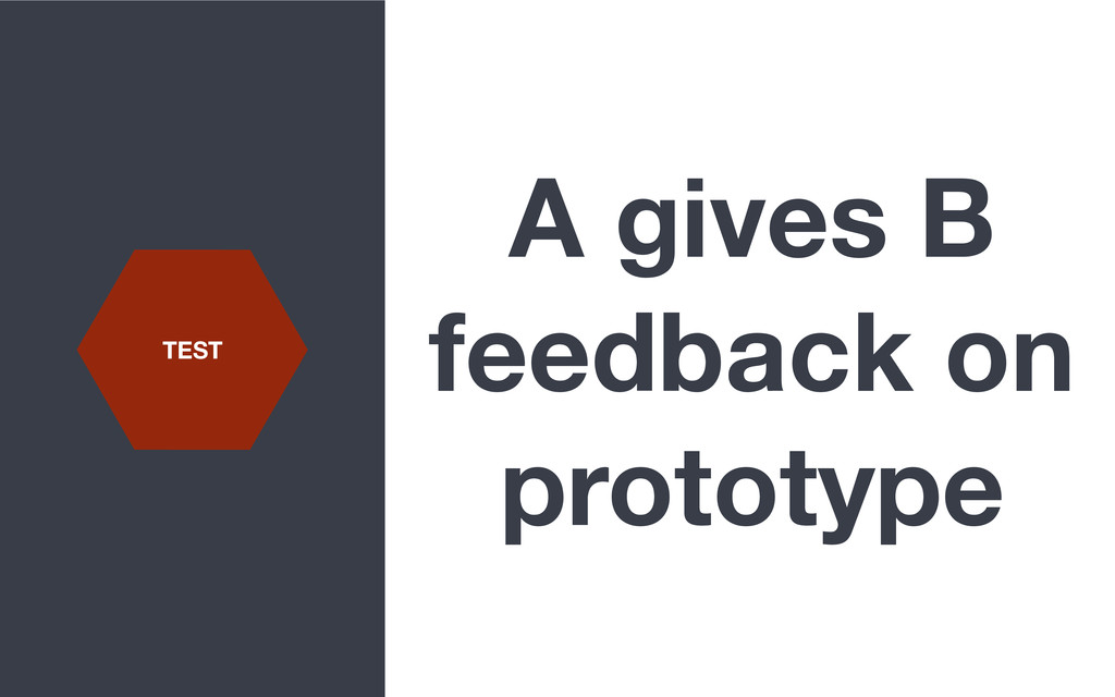 A gives B feedback on prototype TEST