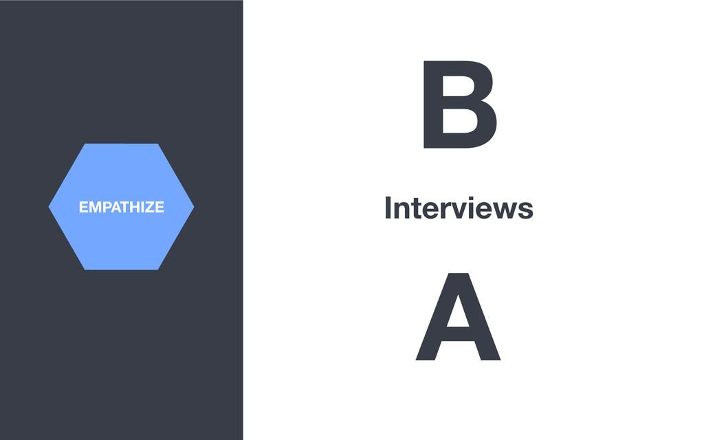 EMPATHIZE B Interviews A