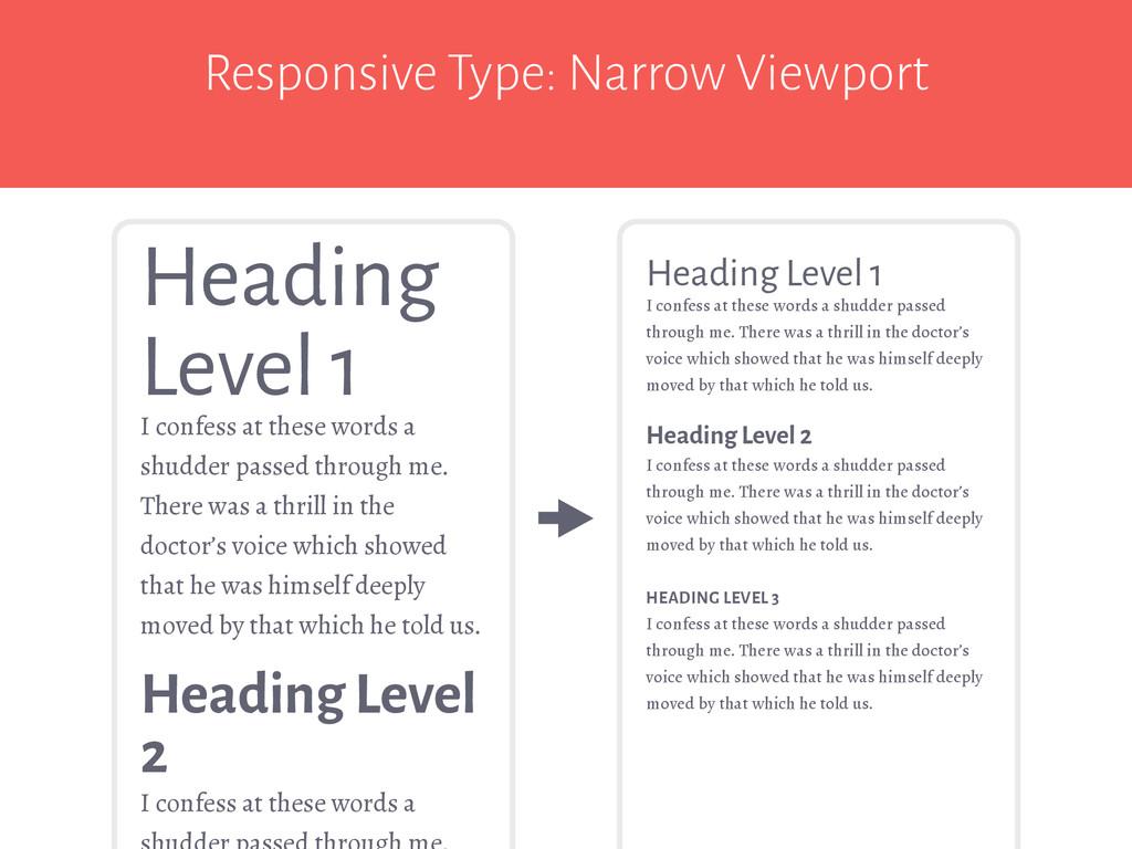 Responsive Type: Narrow Viewport I confess at t...
