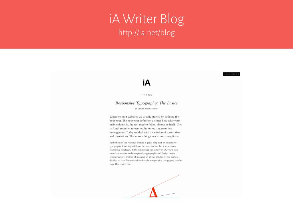 iA Writer Blog http://ia.net/blog