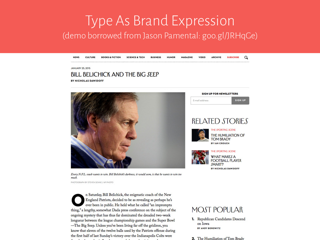 Type As Brand Expression (demo borrowed from Ja...