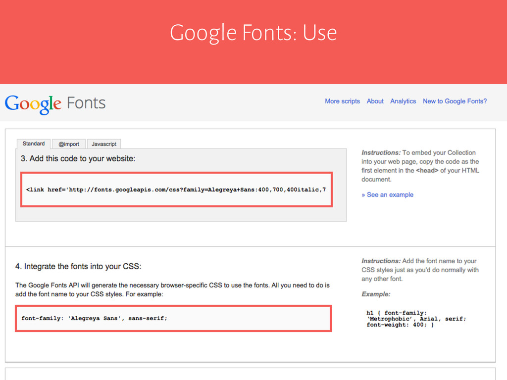 Google Fonts: Use
