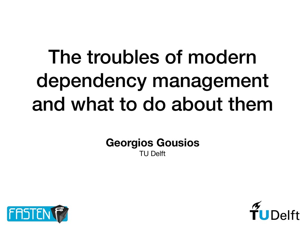 The troubles of modern dependency management an...