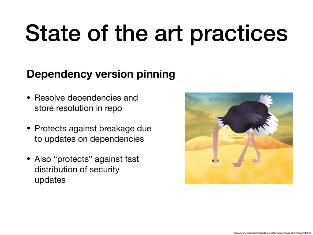 State of the art practices • Resolve dependenci...