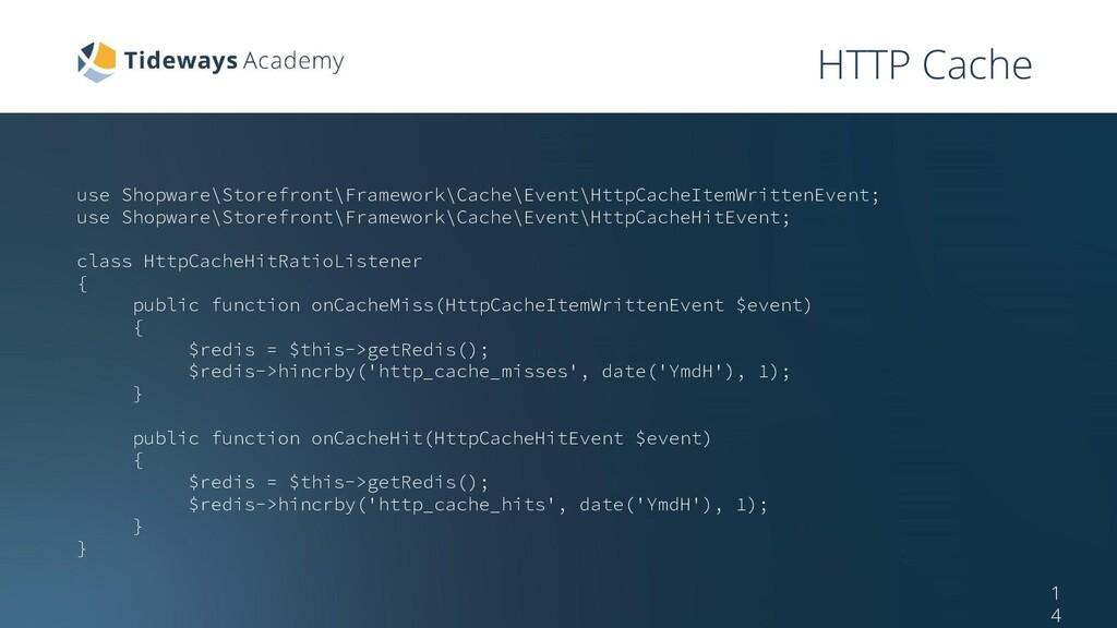 HTTP Cache use Shopware\Storefront\Framework\Ca...