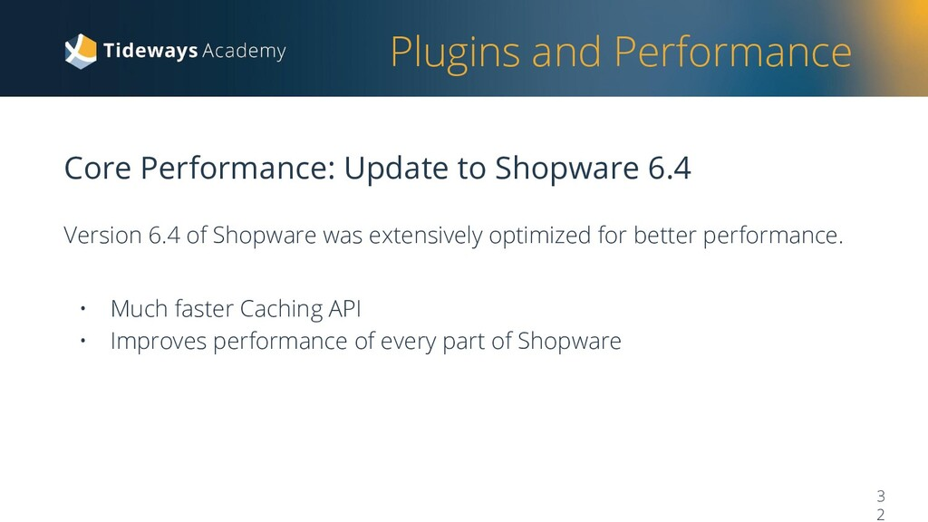 Plugins and Performance Core Performance: Updat...