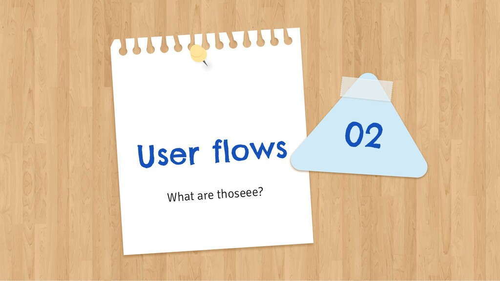 User flows 02 What are thoseee?