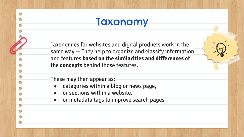 Taxonomy Taxonomies for websites and digital pr...
