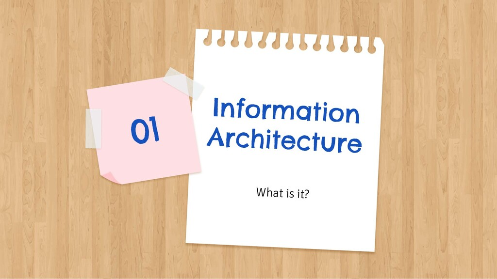 Information Architecture What is it? 01