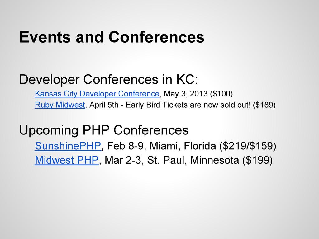 Developer Conferences in KC: Kansas City Develo...