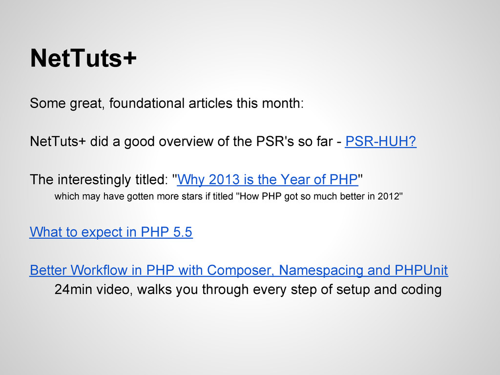 NetTuts+ Some great, foundational articles this...