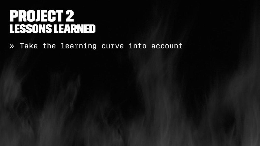 Project 2 Lessons learned » Take the learning c...