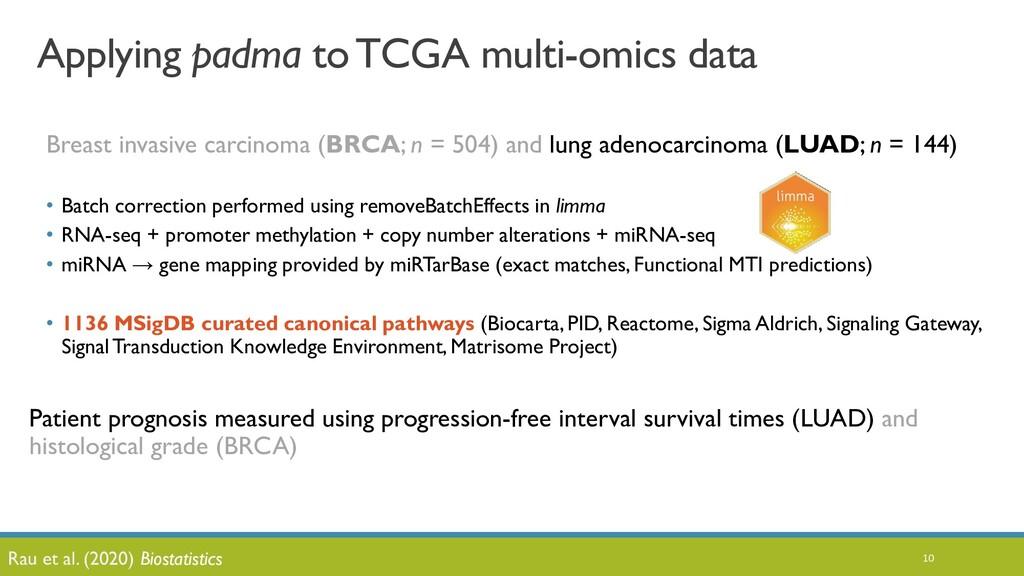 10 Applying padma to TCGA multi-omics data Brea...