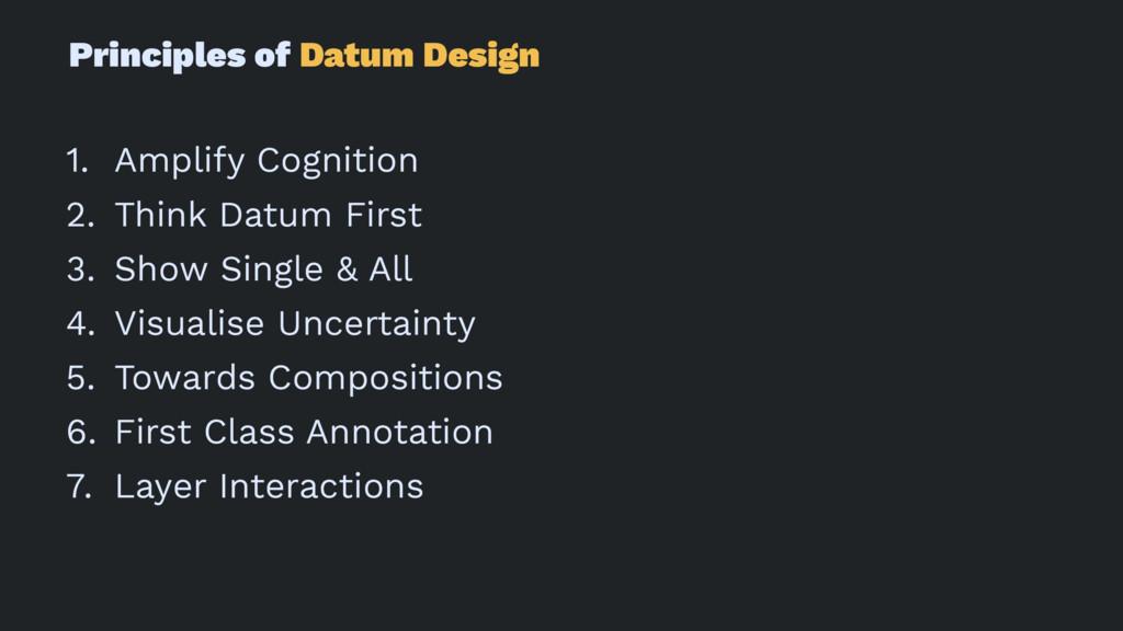 Principles of Datum Design 1. Amplify Cognition...