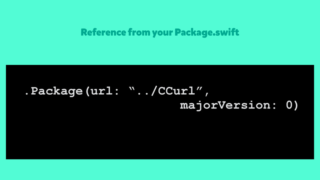 Reference from your Package.swift .Package(url:...