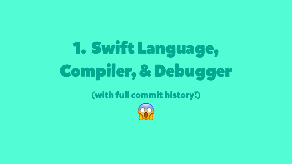 1. Swift Language, Compiler, & Debugger (with f...