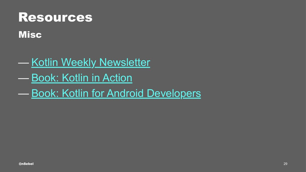 Resources Misc — Kotlin Weekly Newsletter — Boo...