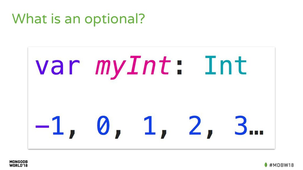 What is an optional?