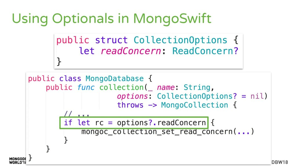 Using Optionals in MongoSwift