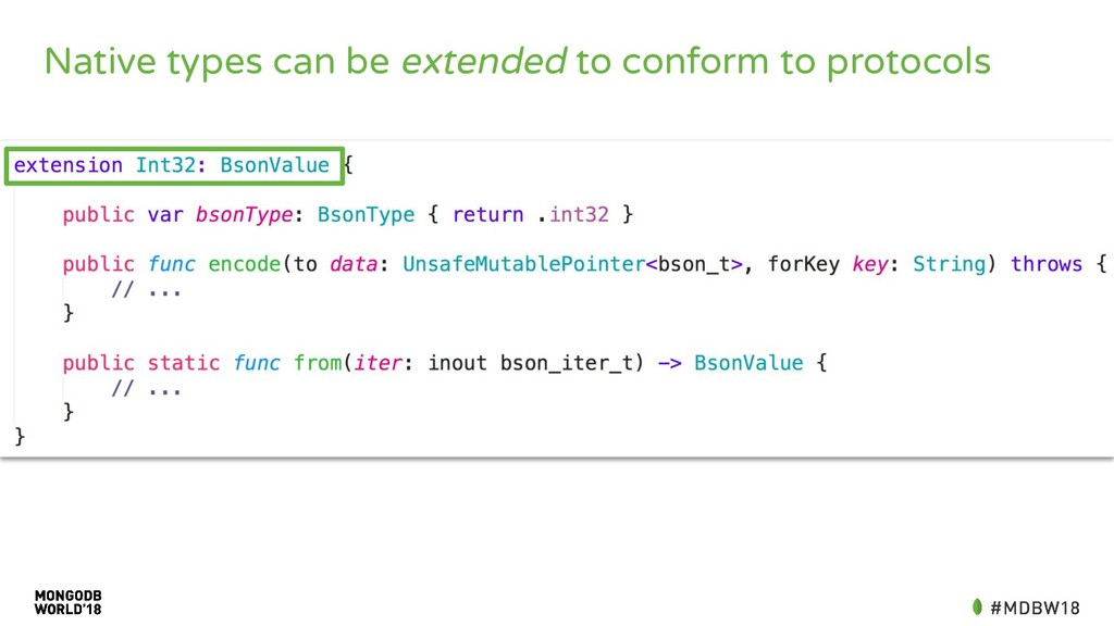 Native types can be extended to conform to prot...