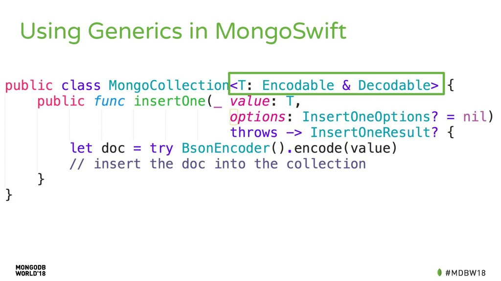 Using Generics in MongoSwift