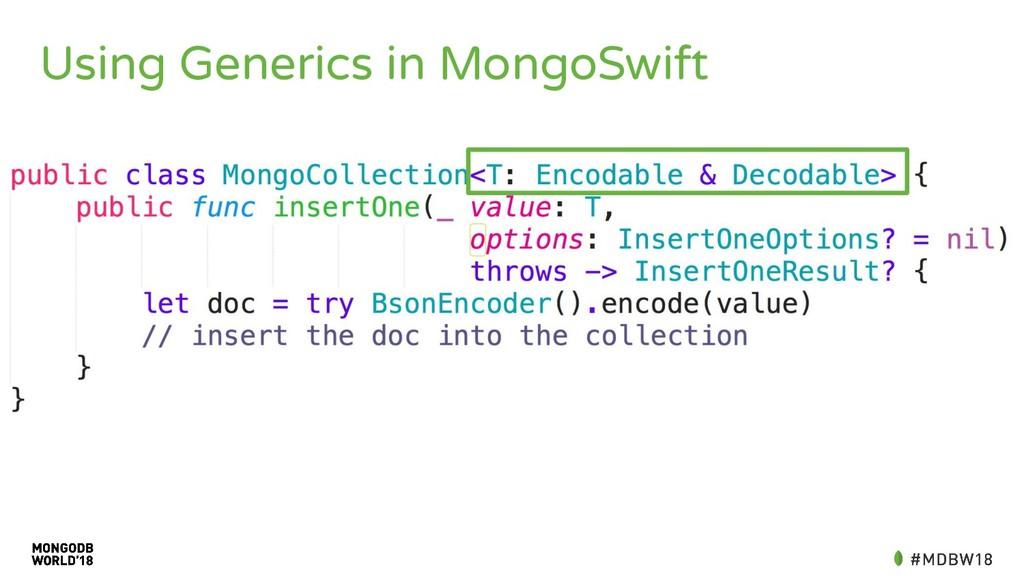 Using Generics in MongoSwift