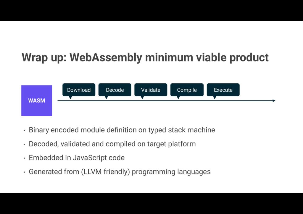 Wrap up: WebAssembly minimum viable product • B...