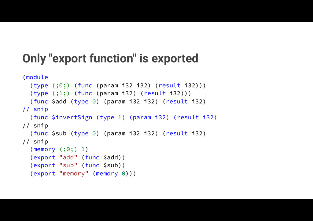"""Only """"export function"""" is exported NPEVMF  U..."""