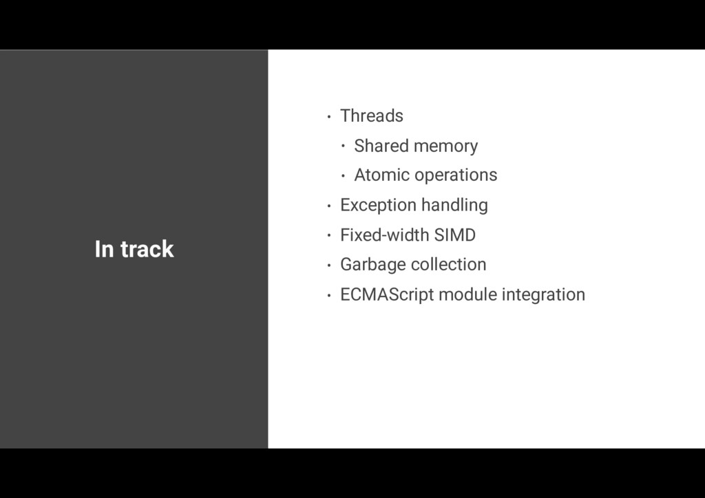 In track • Threads • Shared memory • Atomic ope...
