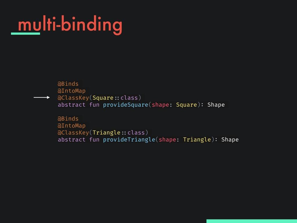 "multi-binding @Binds @IntoMap @ClassKey(Square""..."