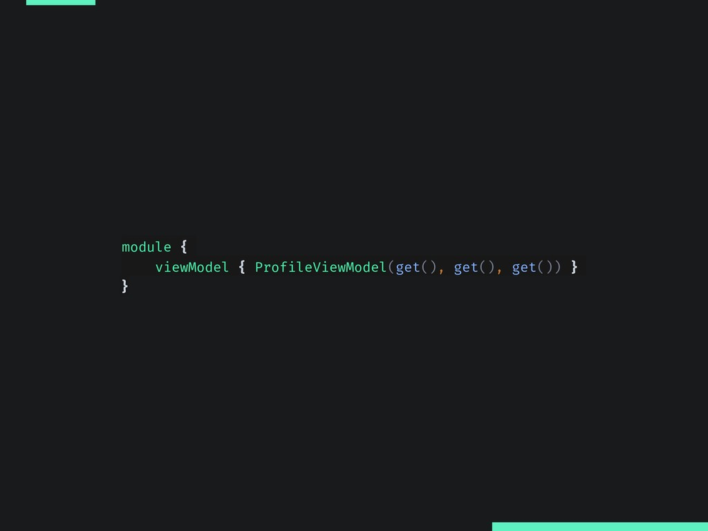module { viewModel { ProfileViewModel(get(), ge...