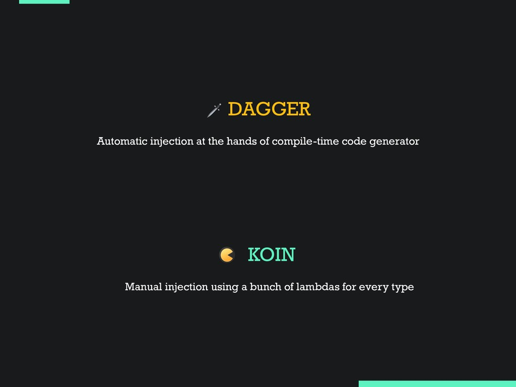 DAGGER KOIN Automatic injection at the hands o...