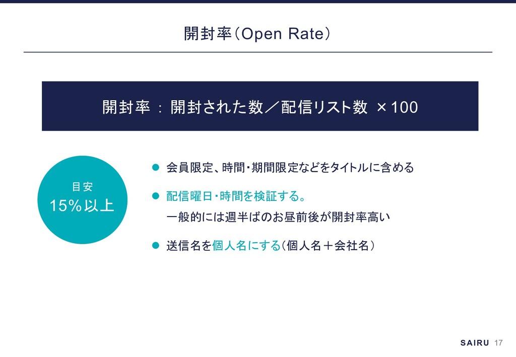 18 Open Rate l l l ×100 20%