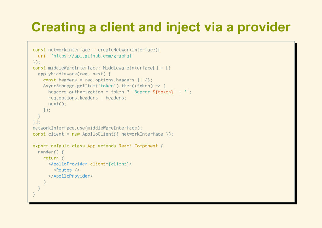 Creating a client and inject via a provider con...