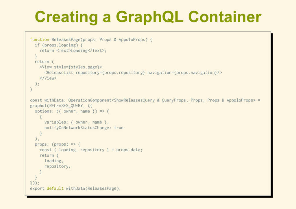 Creating a GraphQL Container function ReleasesP...