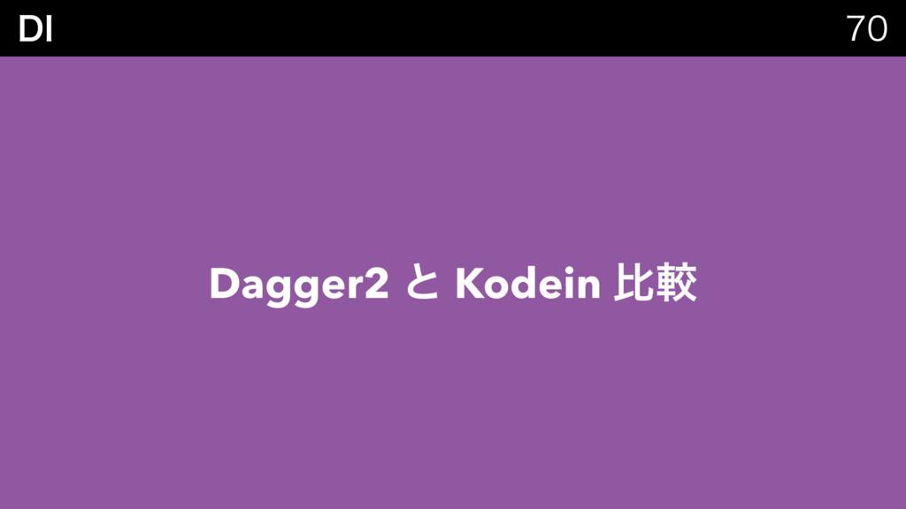 %*  Dagger2 ͱ Kodein ൺֱ