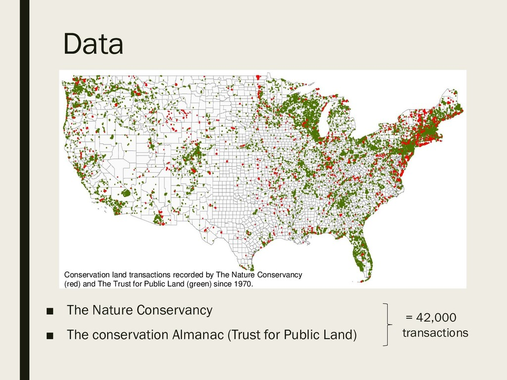 ■ The Nature Conservancy ■ The conservation Alm...