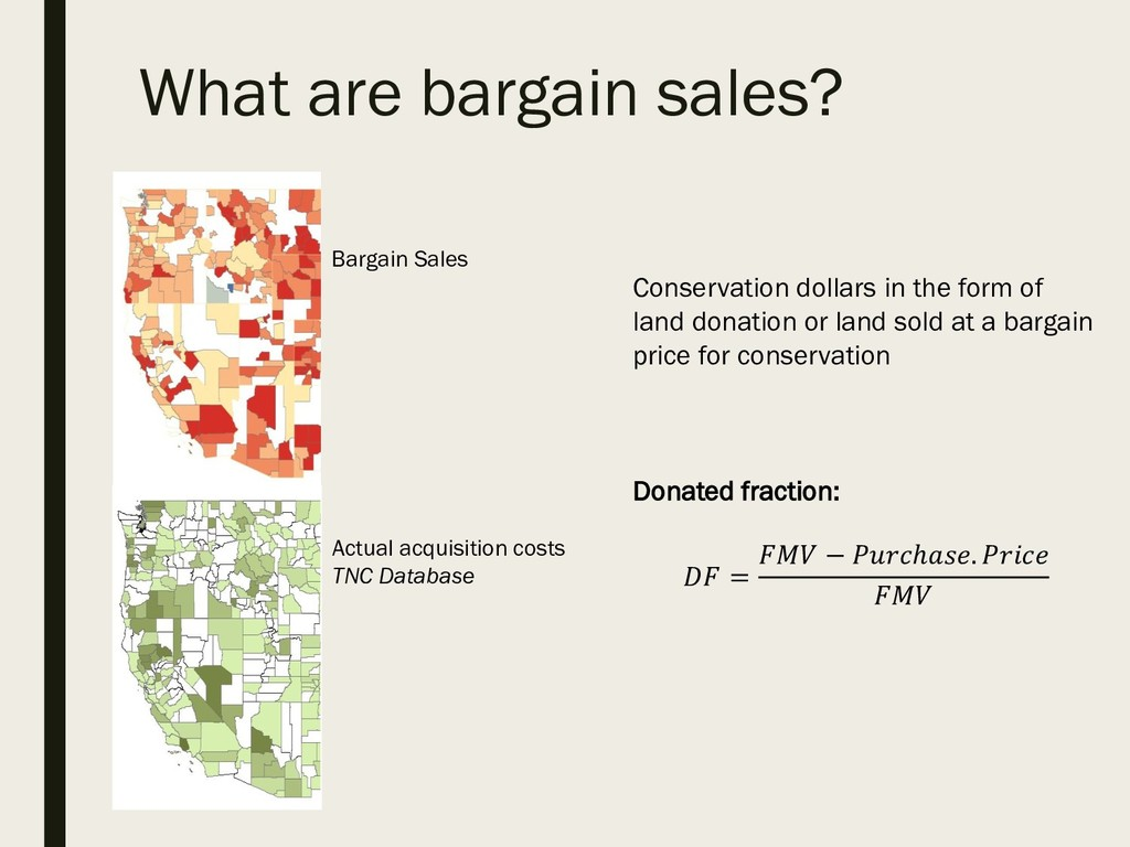 What are bargain sales? Bargain Sales Conservat...